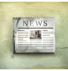Newspaper old-style vector