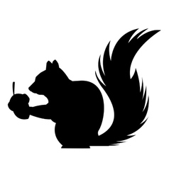 Black and white squirrel design vector image