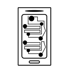 smartphone circuit electronic board linear vector image