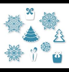 Decorative Christmas set vector image