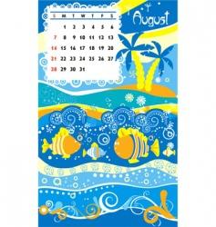 calendar august vector image