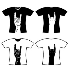Hands tee shirt vector