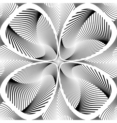 Design monochrome decorative twirl background vector