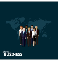 Flat of business or politics vector