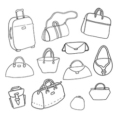 Sketch set of bags vector