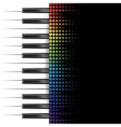 Piano template vector