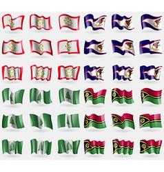 Sikkim american samoa norfolk island vanuatu set vector