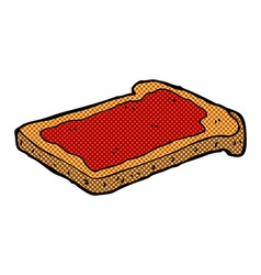 Comic cartoon jam on toast vector
