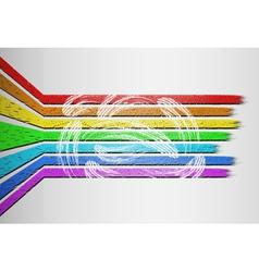voluminous rainbow background vector image