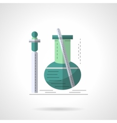 Biochemistry research flat color icon vector