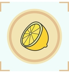 Lemon half icon vector