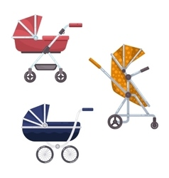 Baby carriage or infant child wagon design vector