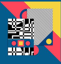 Bauhaus background card vector