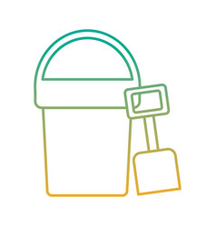 Beach bucket and shovel toy plastic vector