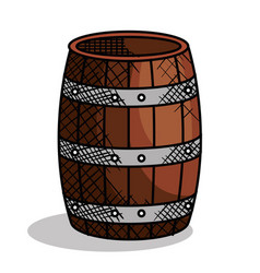 Best wine barrel icon vector
