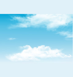 blue sky panorama with transparent clouds vector image vector image