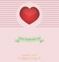 card with valentine s day vector image