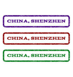 china shenzhen watermark stamp vector image