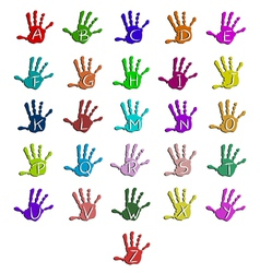 Colorful hand alphabet vector image vector image
