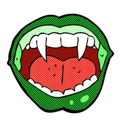 comic cartoon vampire mouth vector image vector image