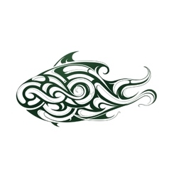 Decorative fish tattoo vector image