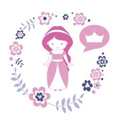 Design with cute princess vector