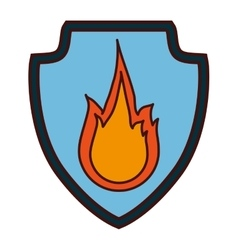 Fire flame icon image vector