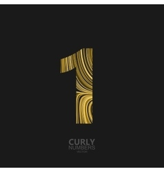 Golden number 1 vector