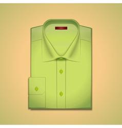 green classic mens shirt vector image