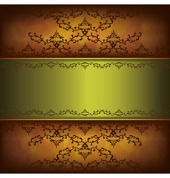 Grunge luxury background with decorative ornament vector image vector image