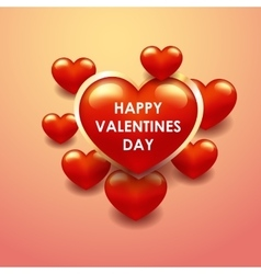 Happy valentines day colorful vetor template vector image