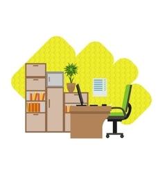 Home office interior design vector