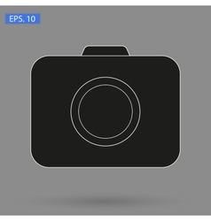 image black Camera Icon vector image
