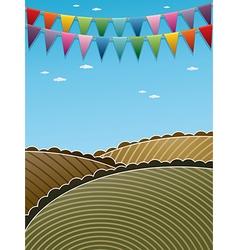 landscape decoration vector image vector image