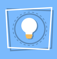 light bulb icon new idea web button vector image vector image