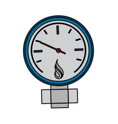 Measuring gauge icon image vector