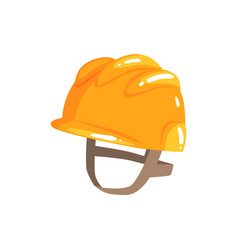 orange safety hard hat cartoon vector image
