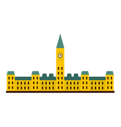 parliament hill ottawa icon isolated vector image