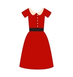 Romantic model elegance red dress fashion vector image