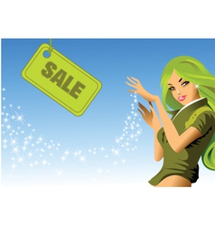 sale girl vector image vector image