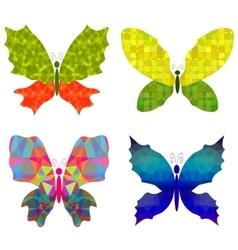 Set of Colorful Batterflies vector image