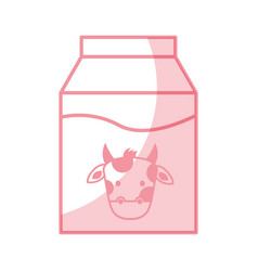 Shadow milk box graphic design vector