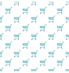 Shopping cart pattern cartoon style vector