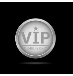 Silver Vip label vector image vector image