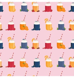 Smoothie patterned background vector