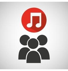 social media group music design vector image vector image