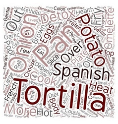 Spanish Tortilla text background wordcloud concept vector image vector image