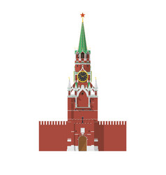 Tower of moscow kremlin in russia vector