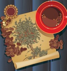 tree coffee12 vector image vector image