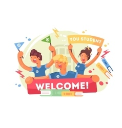 Welcome to university vector image
